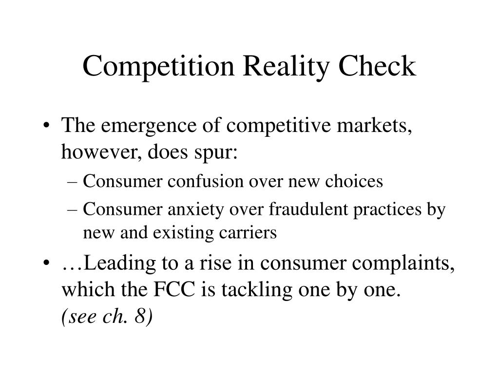 Competition Reality Check