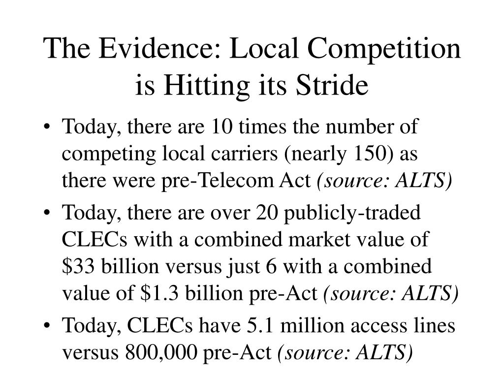 The Evidence: Local Competition is Hitting its Stride