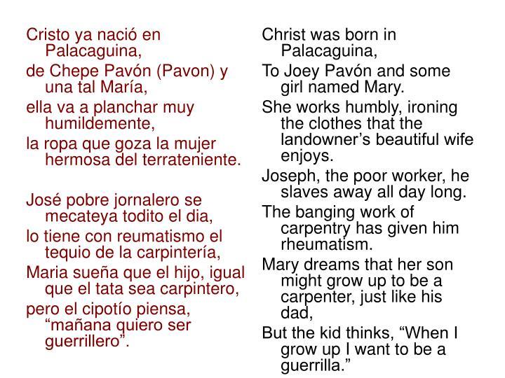 Cristo ya nació en Palacaguina,