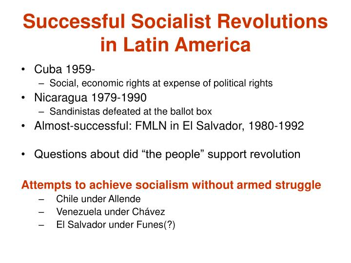 Successful Socialist Revolutions