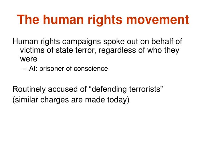 The human rights movement