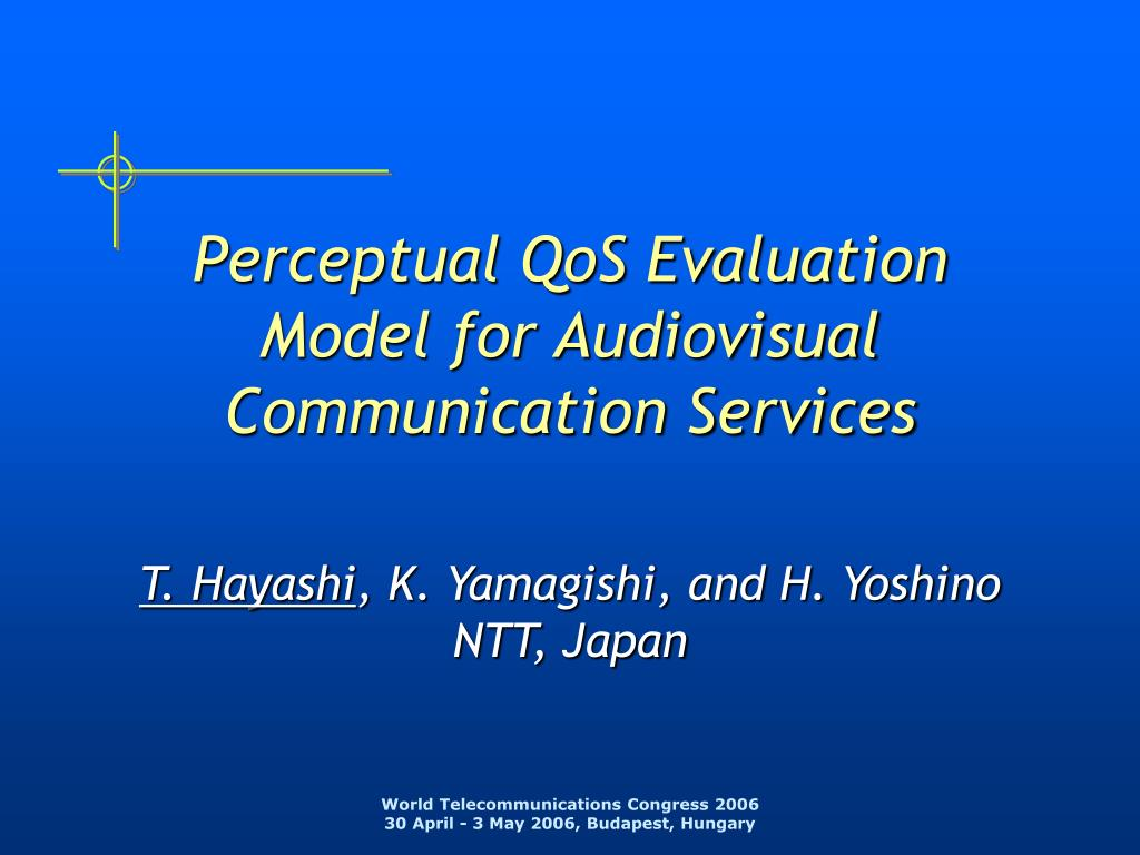 Perceptual QoS Evaluation Model for Audiovisual Communication Services