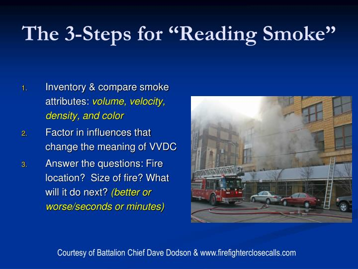 "The 3-Steps for ""Reading Smoke"""