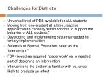 challenges for districts