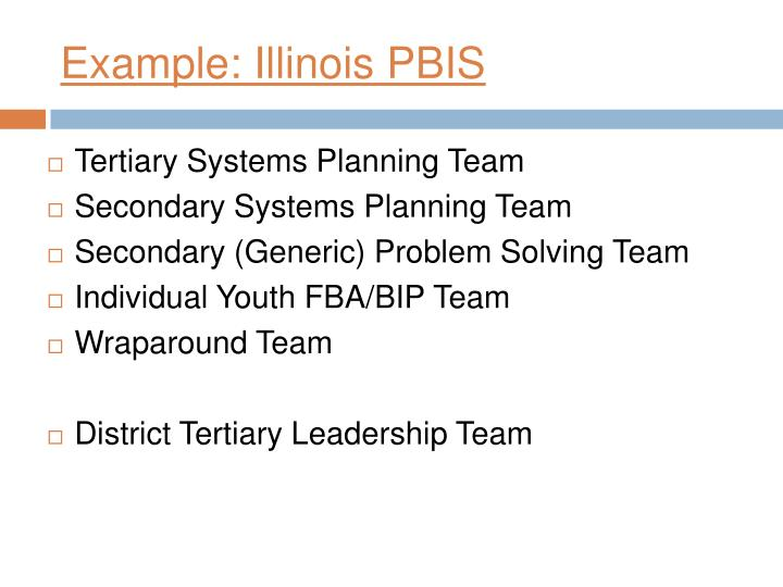 Example: Illinois PBIS