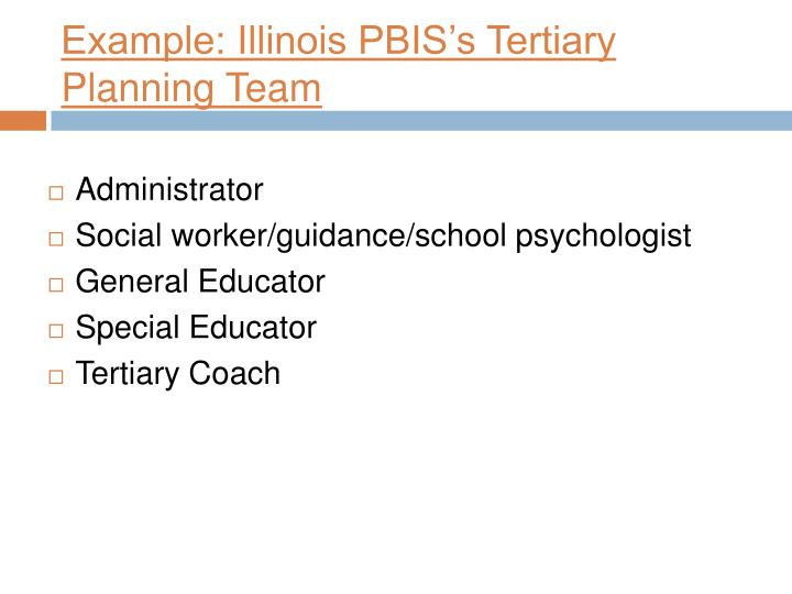 Example: Illinois PBIS's Tertiary Planning Team