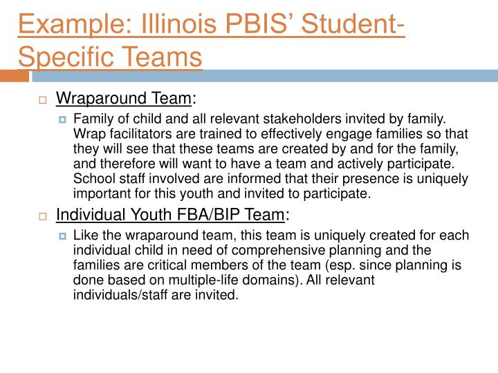 Example: Illinois PBIS' Student-Specific