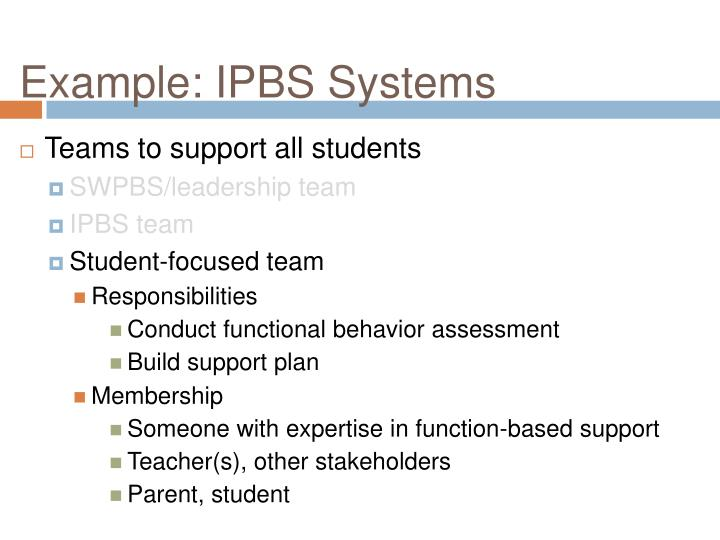 Example: IPBS Systems