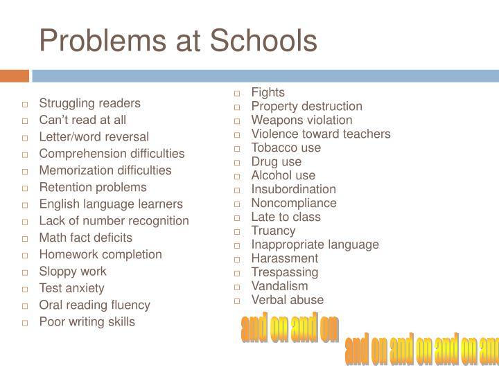 Problems at Schools