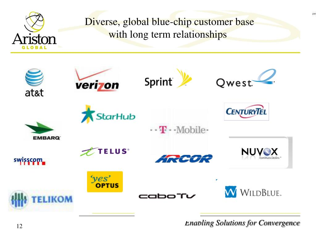 Diverse, global blue-chip customer base