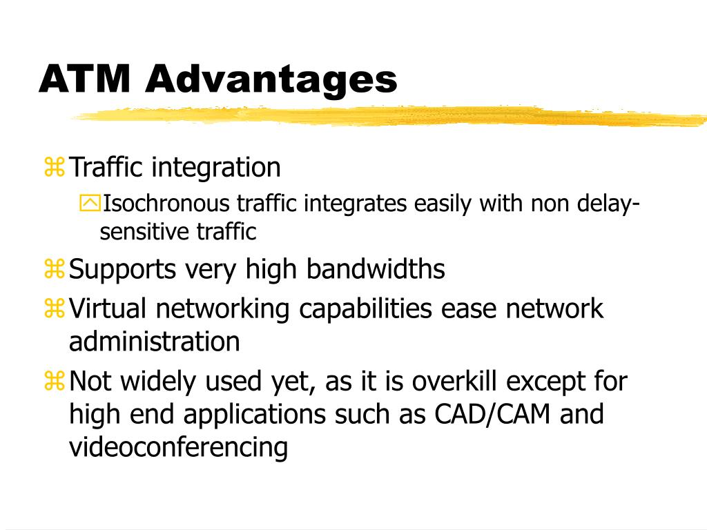 ATM Advantages