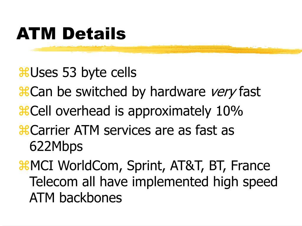 ATM Details