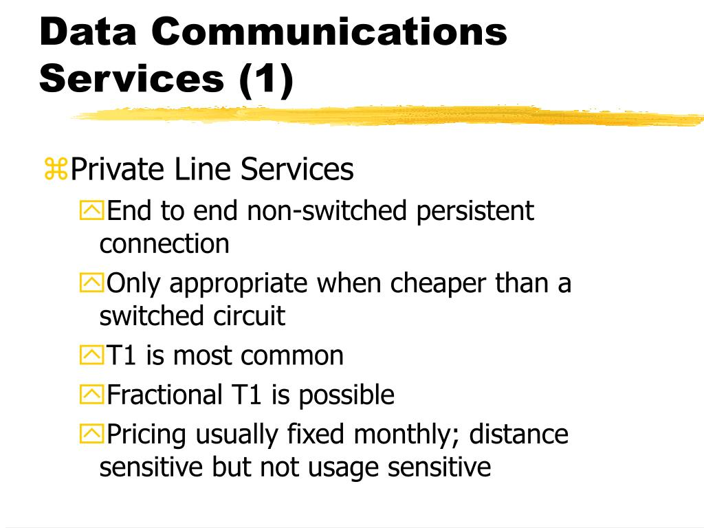 Data Communications Services (1)
