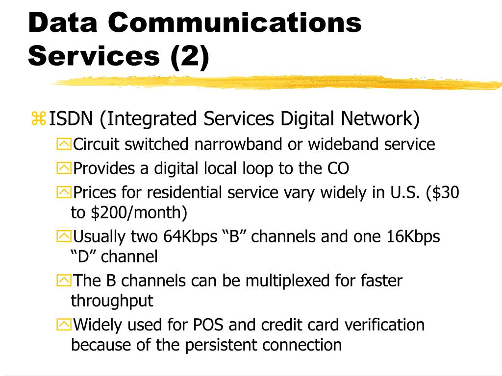 Data Communications Services (2)