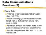 data communications services 3
