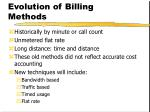 evolution of billing methods