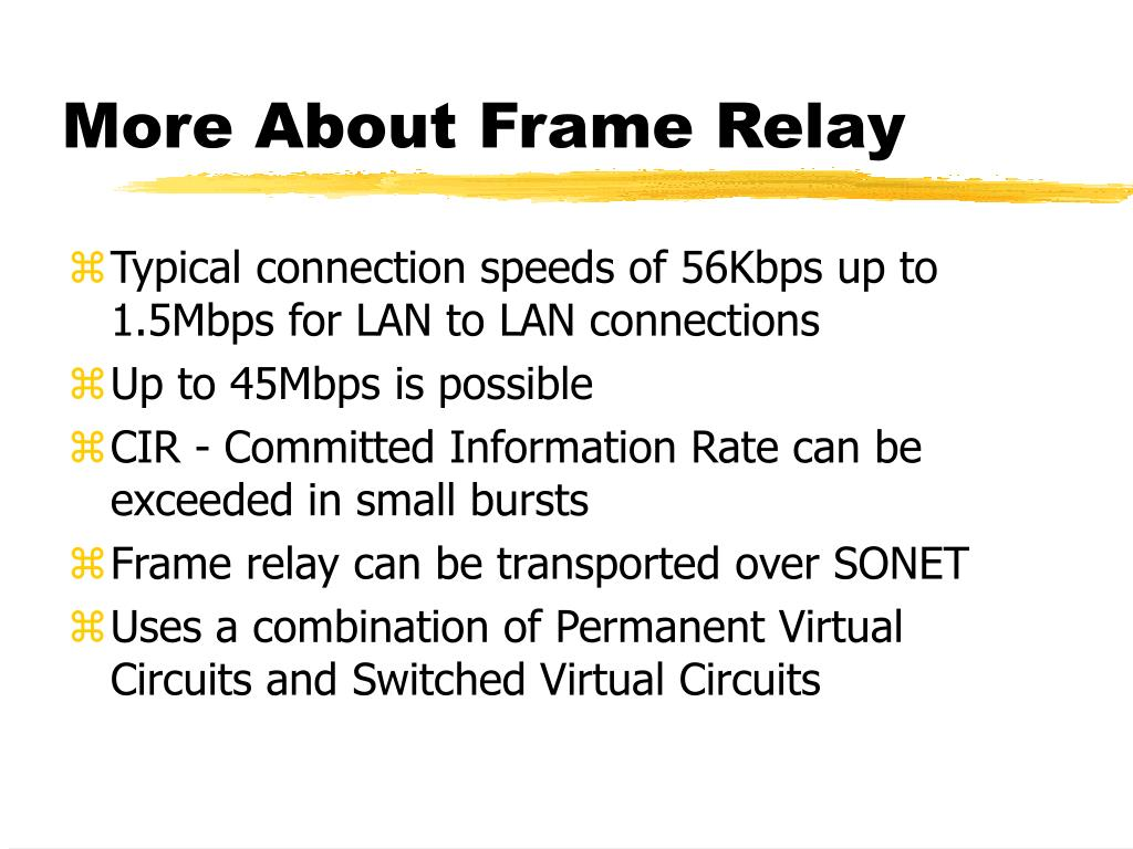 More About Frame Relay