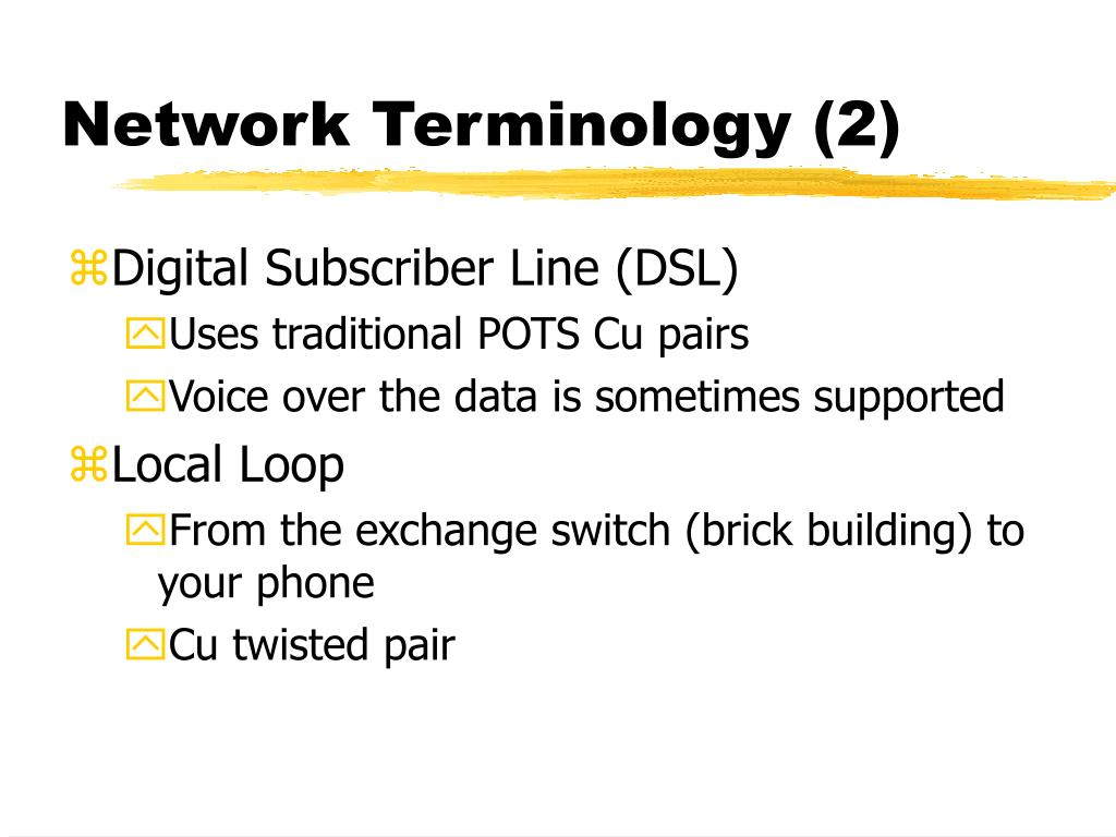 Network Terminology (2)
