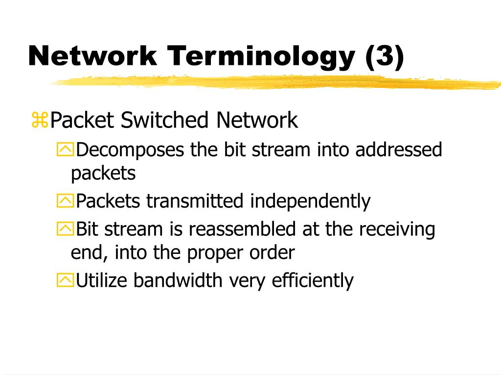 Network Terminology (3)