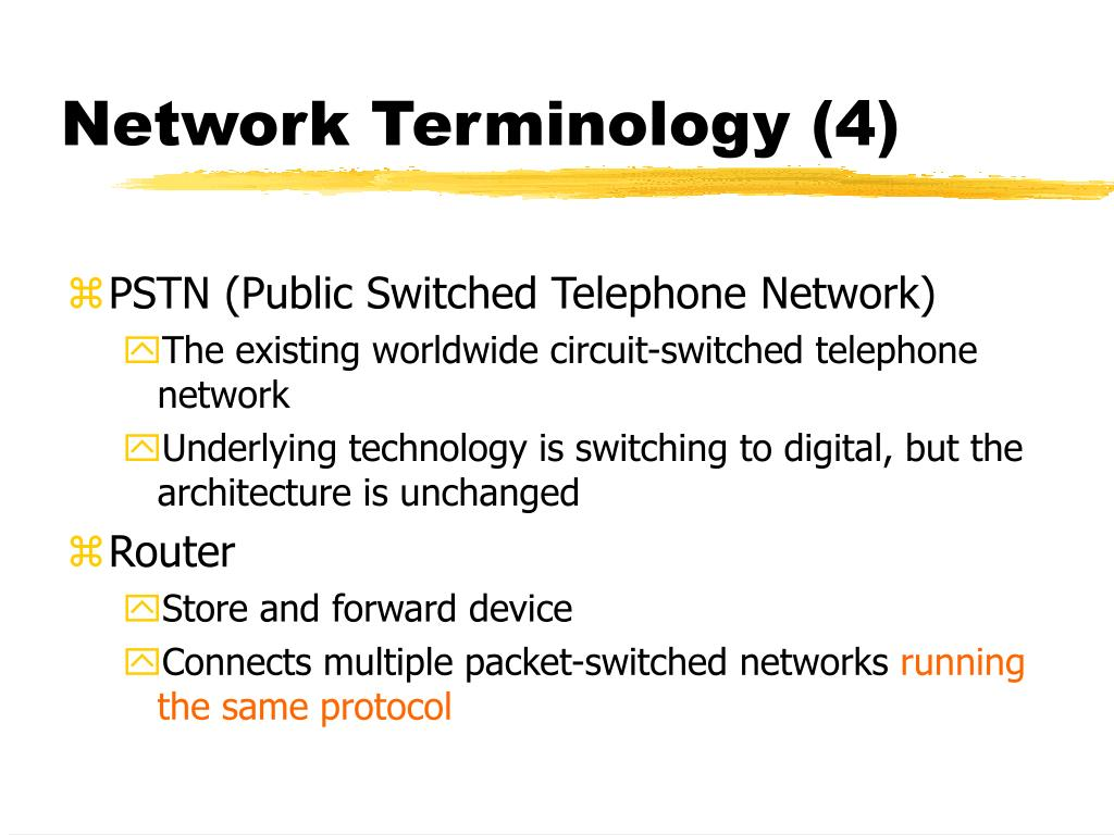Network Terminology (4)