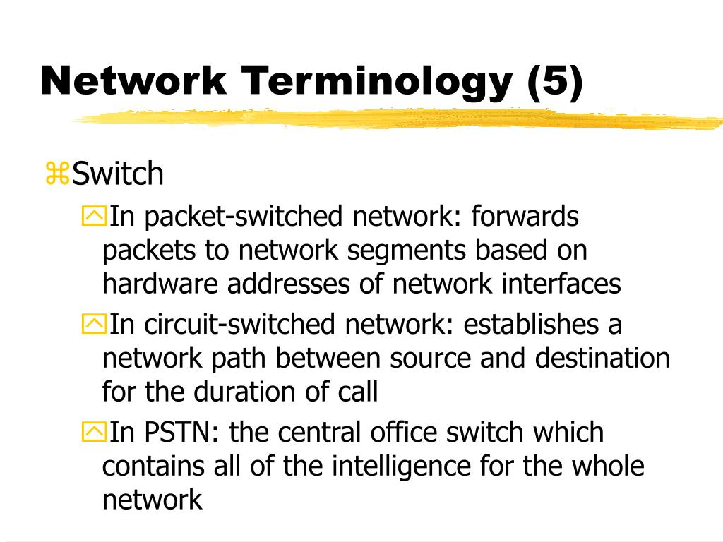 Network Terminology (5)