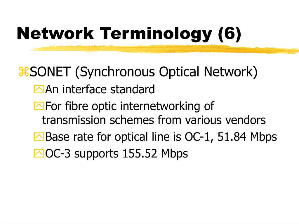 Network Terminology (6)