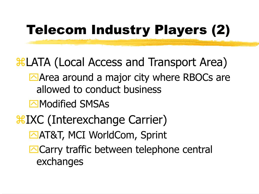 Telecom Industry Players (2)