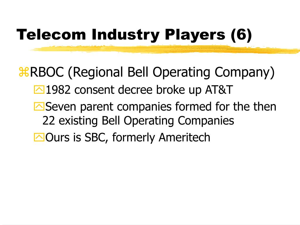 Telecom Industry Players (6)