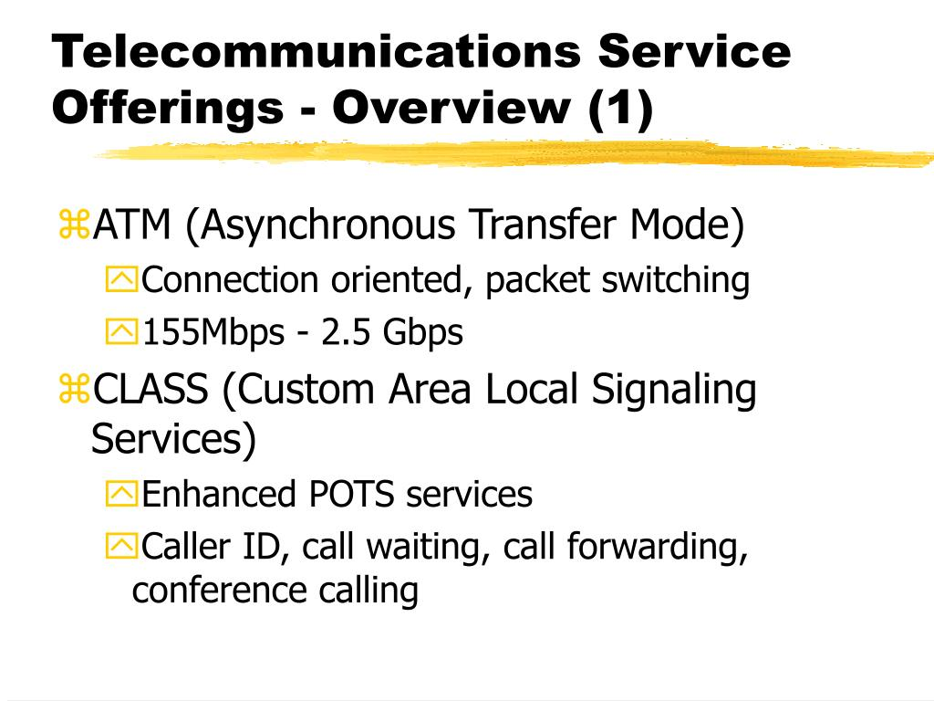 Telecommunications Service Offerings - Overview (1)