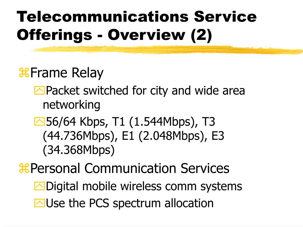 Telecommunications Service Offerings - Overview (2)