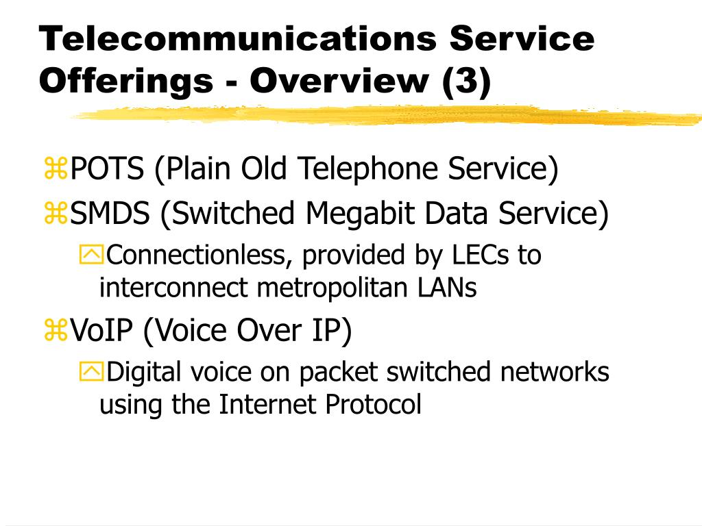 Telecommunications Service Offerings - Overview (3)