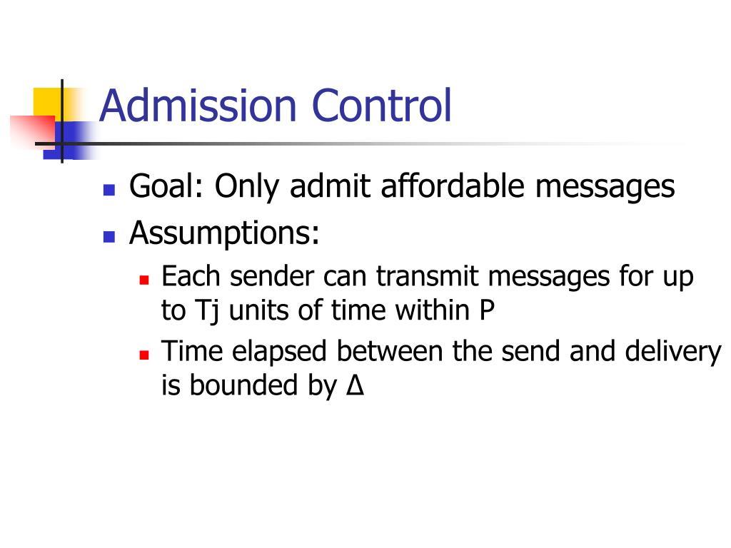 Admission Control