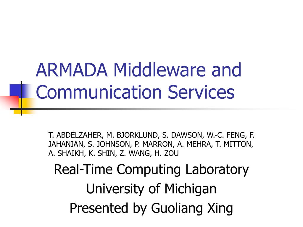 ARMADA Middleware and Communication Services
