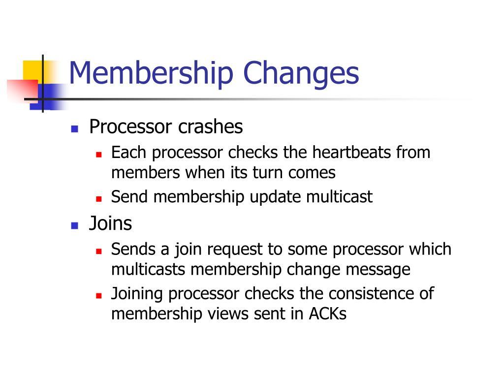 Membership Changes