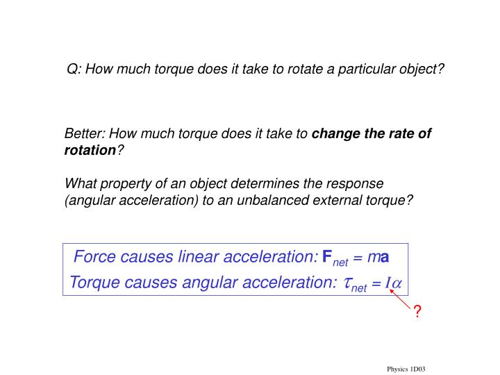 Force causes linear acceleration: