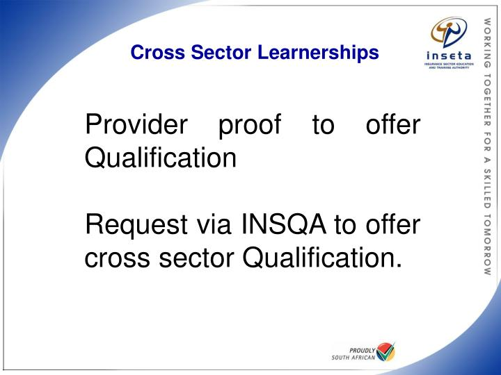 Cross Sector Learnerships