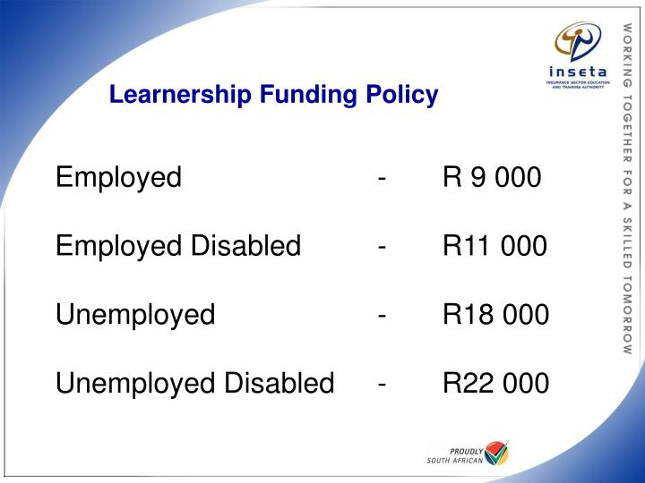 Learnership Funding Policy