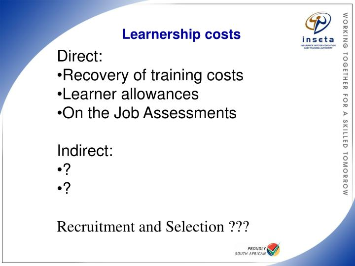Learnership costs