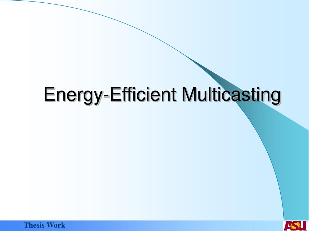Energy-Efficient Multicasting
