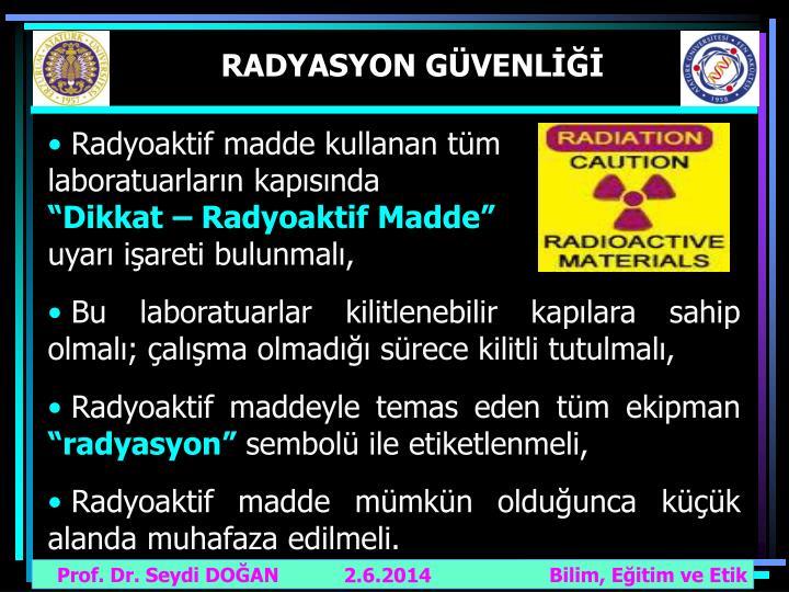 RADYASYON GÜVENLİĞİ