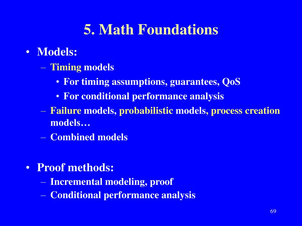 5. Math Foundations