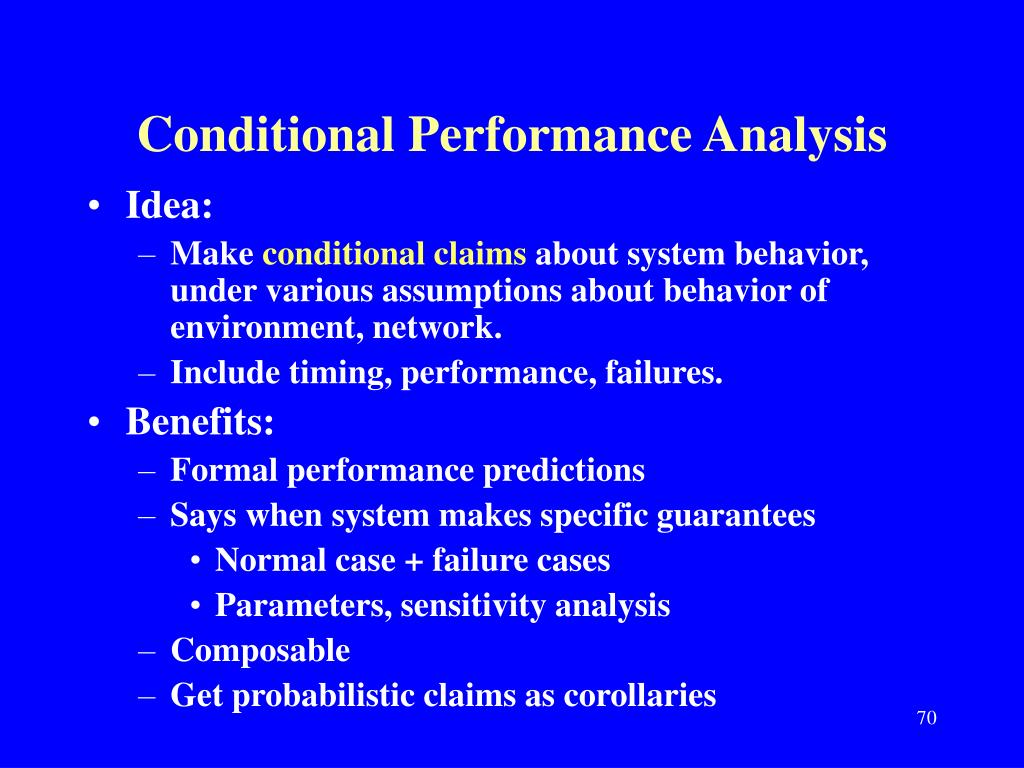 Conditional Performance Analysis