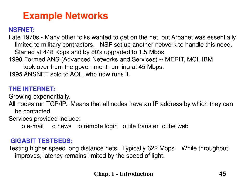 Example Networks