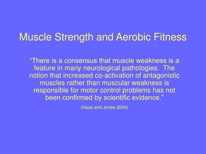 Muscle Strength and Aerobic Fitness