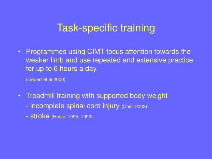Task-specific training