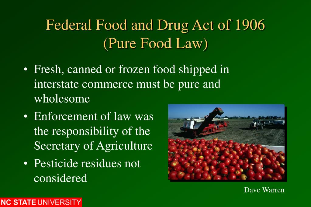 Federal Food and Drug Act of 1906