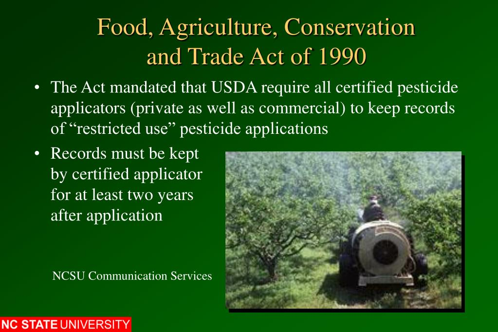Food, Agriculture, Conservation and Trade Act of 1990