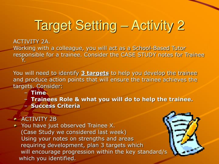 Target Setting – Activity 2