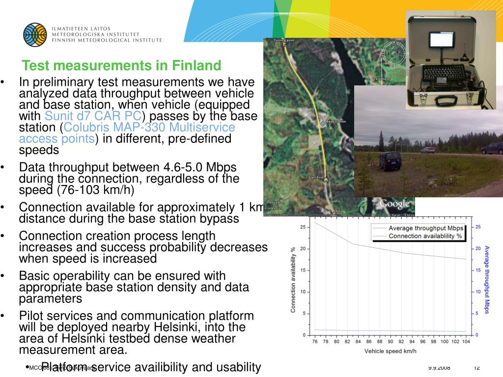 Test measurements in Finland