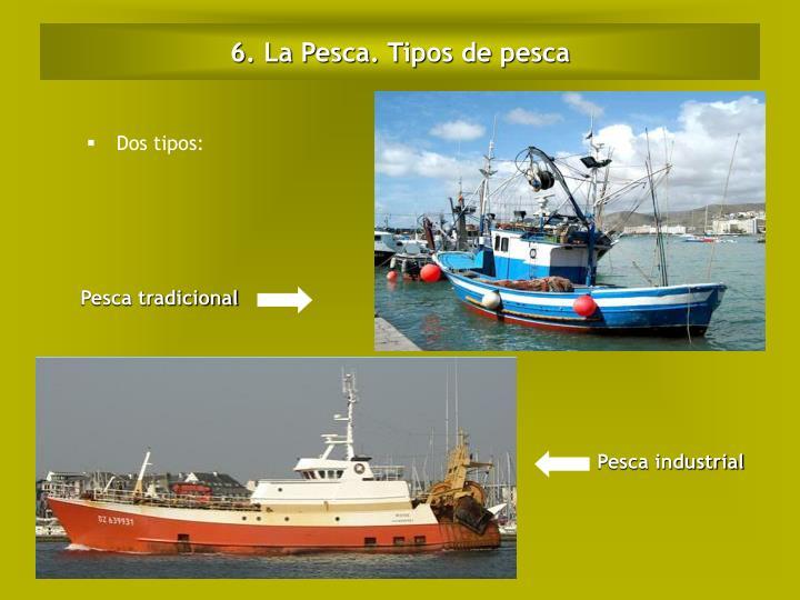 6. La Pesca. Tipos de pesca
